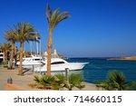 port ghalib  a beautiful port ... | Shutterstock . vector #714660115