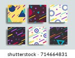 colorful geometric shapes in... | Shutterstock .eps vector #714664831