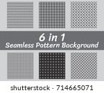 set of abstract seamless... | Shutterstock .eps vector #714665071