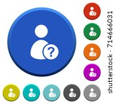 unknown user round color... | Shutterstock .eps vector #714666031
