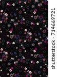 trendy seamless floral pattern... | Shutterstock .eps vector #714669721