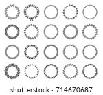set of black and white... | Shutterstock .eps vector #714670687