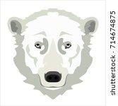 polar bear. face flat icon... | Shutterstock .eps vector #714674875