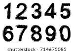 set of grunge numbers.vector...   Shutterstock .eps vector #714675085