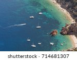 cruise ships anchored in the... | Shutterstock . vector #714681307