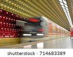 prague  czech republic   august ... | Shutterstock . vector #714683389
