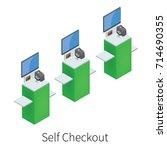 isometric model of self... | Shutterstock .eps vector #714690355