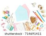 envelope  mockup and stylish...   Shutterstock . vector #714691411