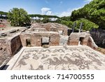 neptune roman empire thermal... | Shutterstock . vector #714700555