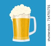 lager glass beer icon isolated... | Shutterstock .eps vector #714701731