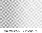 black and white dotted halftone ... | Shutterstock .eps vector #714702871