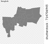 high quality map of bangkok is... | Shutterstock .eps vector #714706945