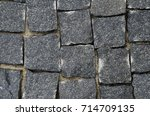 background texture paving stones | Shutterstock . vector #714709135