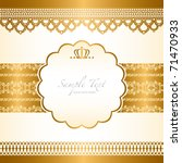 lace background card | Shutterstock .eps vector #71470933