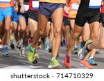 lots of runners with sportswear ... | Shutterstock . vector #714710329