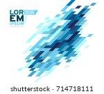 modern business brochure ... | Shutterstock .eps vector #714718111