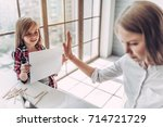 i'm busy  beautiful young woman ...   Shutterstock . vector #714721729