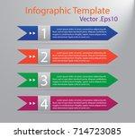 modern infographic template... | Shutterstock .eps vector #714723085
