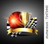 golden cricket trophy trophy | Shutterstock .eps vector #71472442