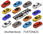 vector isometric high quality... | Shutterstock .eps vector #714724621