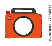 photographic camera icon image | Shutterstock .eps vector #714725989
