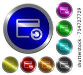 undo credit card last operation ... | Shutterstock .eps vector #714727729