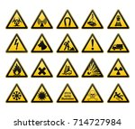 Warning Signs Set. Safety In ...