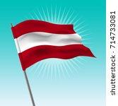waving austria flag  vector... | Shutterstock .eps vector #714733081