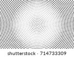 black and white dotted halftone ... | Shutterstock .eps vector #714733309