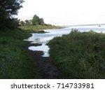 september high tide at stiffkey ... | Shutterstock . vector #714733981