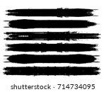 grunge paint stripe . vector... | Shutterstock .eps vector #714734095