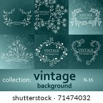 eps8  collection vintage... | Shutterstock .eps vector #71474032