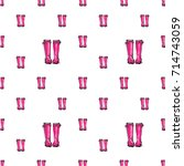 vector pink wellies... | Shutterstock .eps vector #714743059
