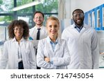 Smiling Group Of Scientists In...