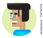 cool avatar. young guy friendly ... | Shutterstock .eps vector #714746155