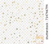 gold stars. confetti... | Shutterstock .eps vector #714746794