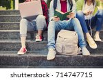 young students on campus | Shutterstock . vector #714747715