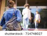 young students on campus | Shutterstock . vector #714748027