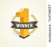 first place competition winner. ... | Shutterstock .eps vector #714748057