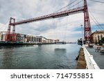 portugalete  spain   july 12 ... | Shutterstock . vector #714755851