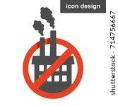 stop pollution factory | Shutterstock .eps vector #714756667