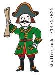 emperor peter 1. children's... | Shutterstock .eps vector #714757825