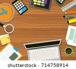 set of flat vector design... | Shutterstock .eps vector #714758914
