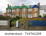 typical british town houses in... | Shutterstock . vector #714761209