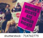 detail of a women's rights...   Shutterstock . vector #714762775