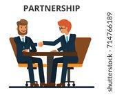 business partnership.... | Shutterstock .eps vector #714766189