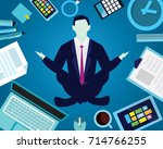 vector illustration. calm relax ... | Shutterstock .eps vector #714766255