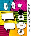 vertical pop art comics book... | Shutterstock .eps vector #714771295