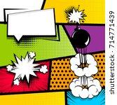 pop art comics book magazine... | Shutterstock .eps vector #714771439