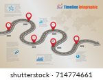 business road map milestone... | Shutterstock .eps vector #714774661